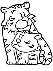 tigres para colorir