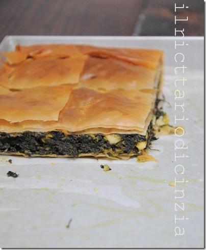 Torta di spinaci, feta e pasta fillo