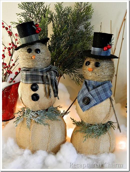 burlap & twine snowmen39