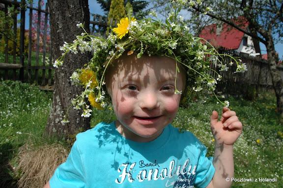 Marcinek wiosenny uśmiech