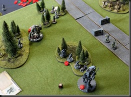 Heinrich scarpers as Grand'ma comes round the flank