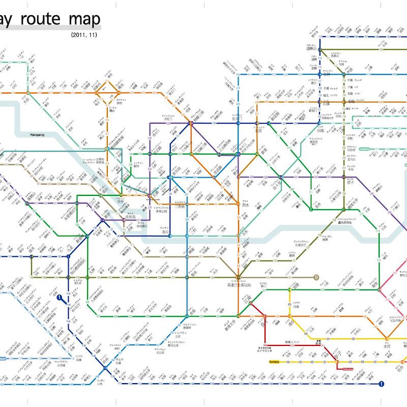 首爾地鐵捷運+地鐵圖心得