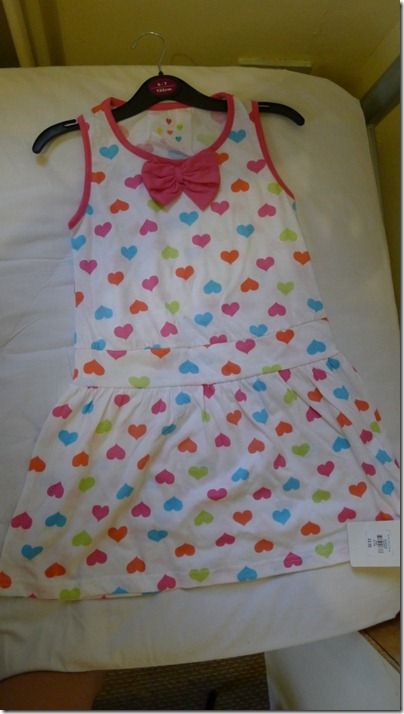 heart shapes mini dress with bow