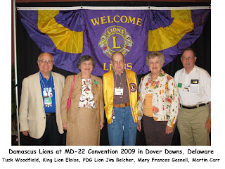 Lions 22 Convention in Dover DE - 2009