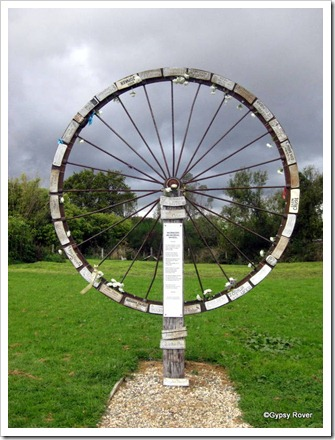 Wheel of remembrance at Blackball of workers and miners killed since 1990.