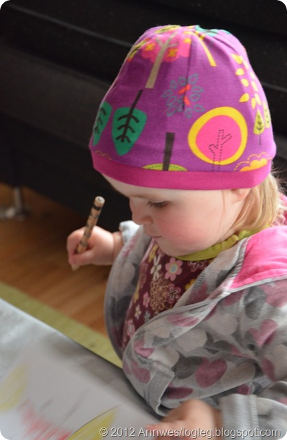 How to sew a children's beanie /hat with a ribbing band