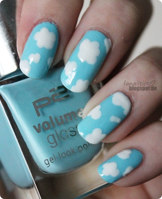 "p2 ""heavenly girl"" + essie ""blanc"" nailart"