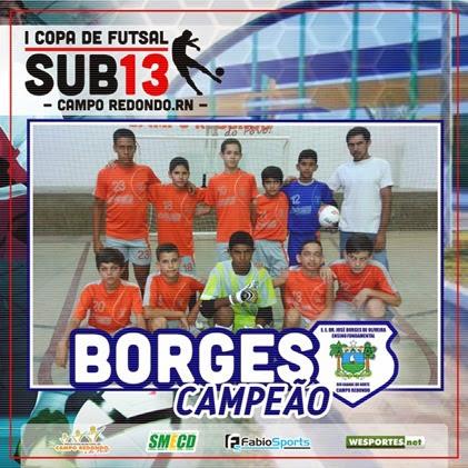 I COPA SUB13 2014 - CAMPEÃO