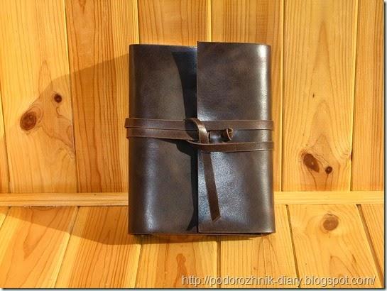кожаный блокнот на кольцах