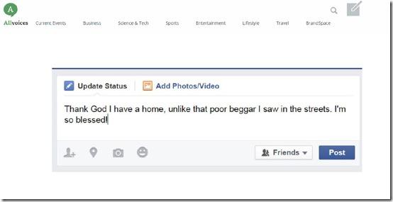 thank God on Facebook