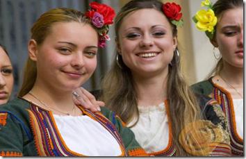 Bulgarian Women In Traditional Costume