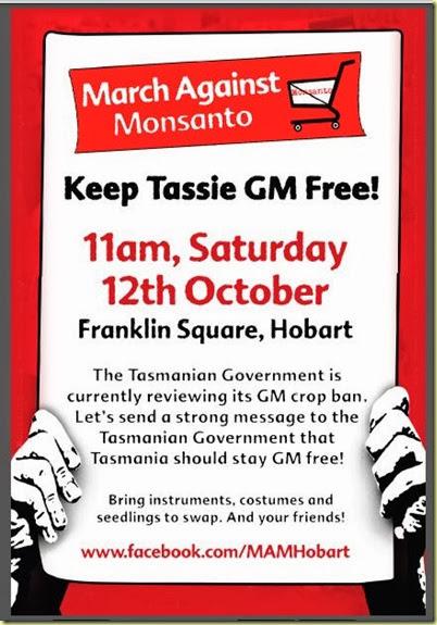 GM free Tas poster