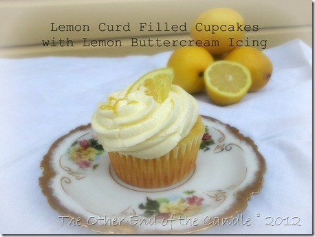 Lemon Curd Filled Cupcake with Lemon Buttercream