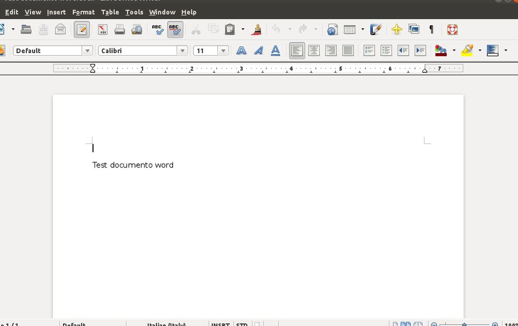 LibreOffice 3.5.4 Writer