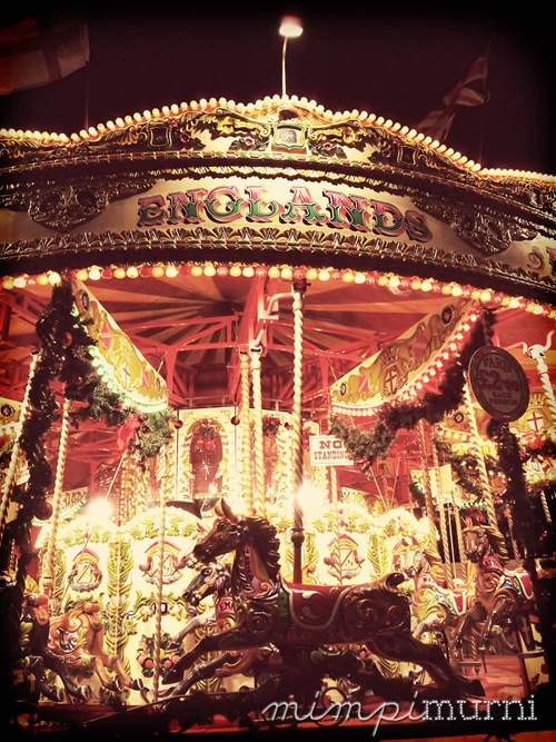 carousel at Winter Wonderland        