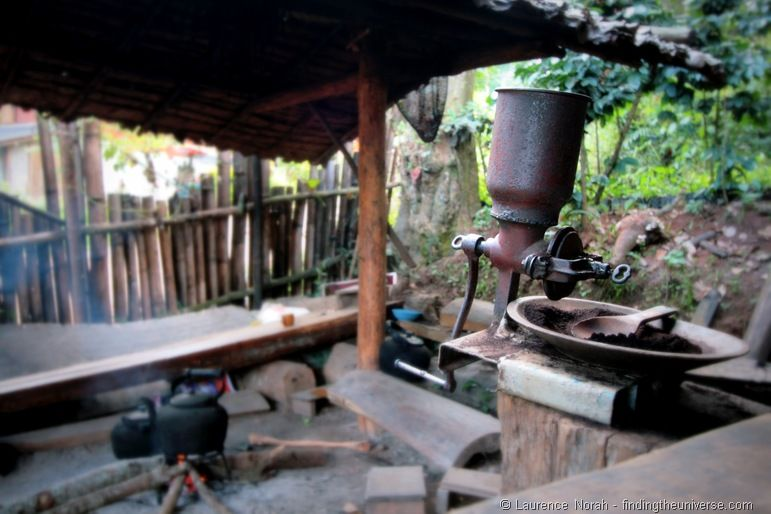 Coffee grinder and wood fired kettle Doi Inthanon
