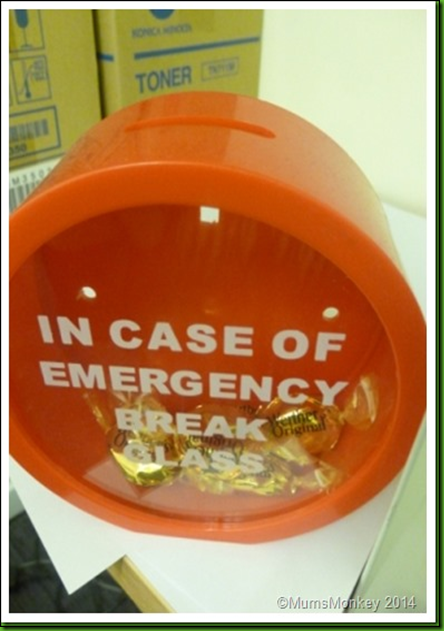 Emergency sweeties.