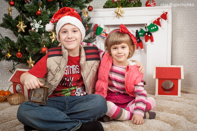 Детский новогодний фотопроект Рождественские мечты. 11 Полина и Миша-8852