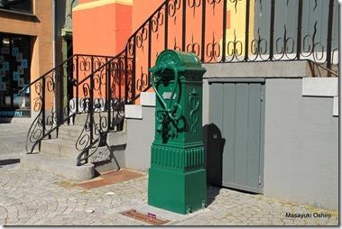 旧市庁舎の前にあるポンプ