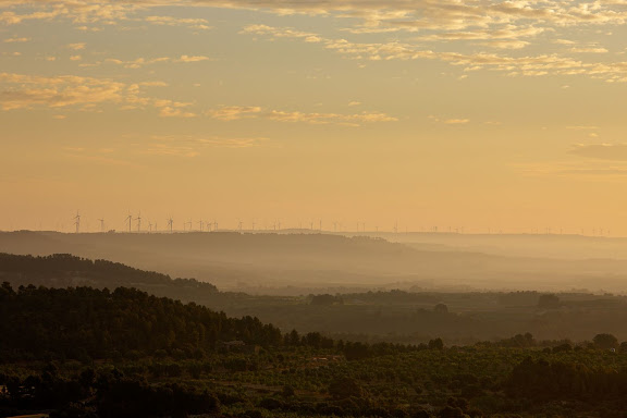 Vista des del coll d'en Sabater en direcció a BotHorta, Terra Alta, Tarragona