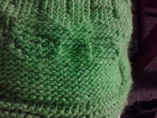 Bamboo blanket closeup of frog