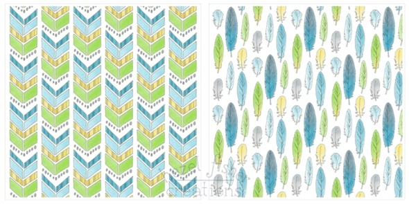 2014 May 12 Spoonflower fabric designs budgie feather chevron