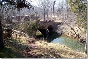 The Stone Bridge crossing Bull Run on old Warrenton Turnpike