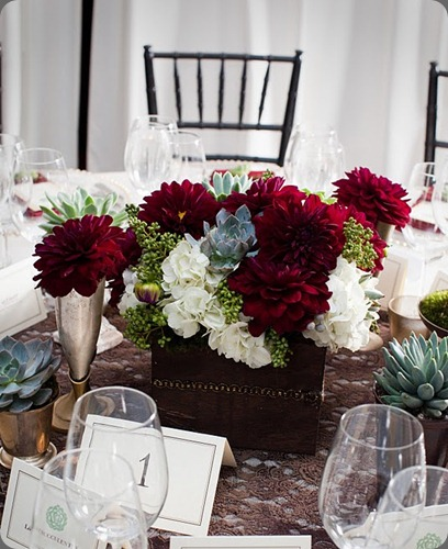 B 4 box centerpiece heavenly blooms