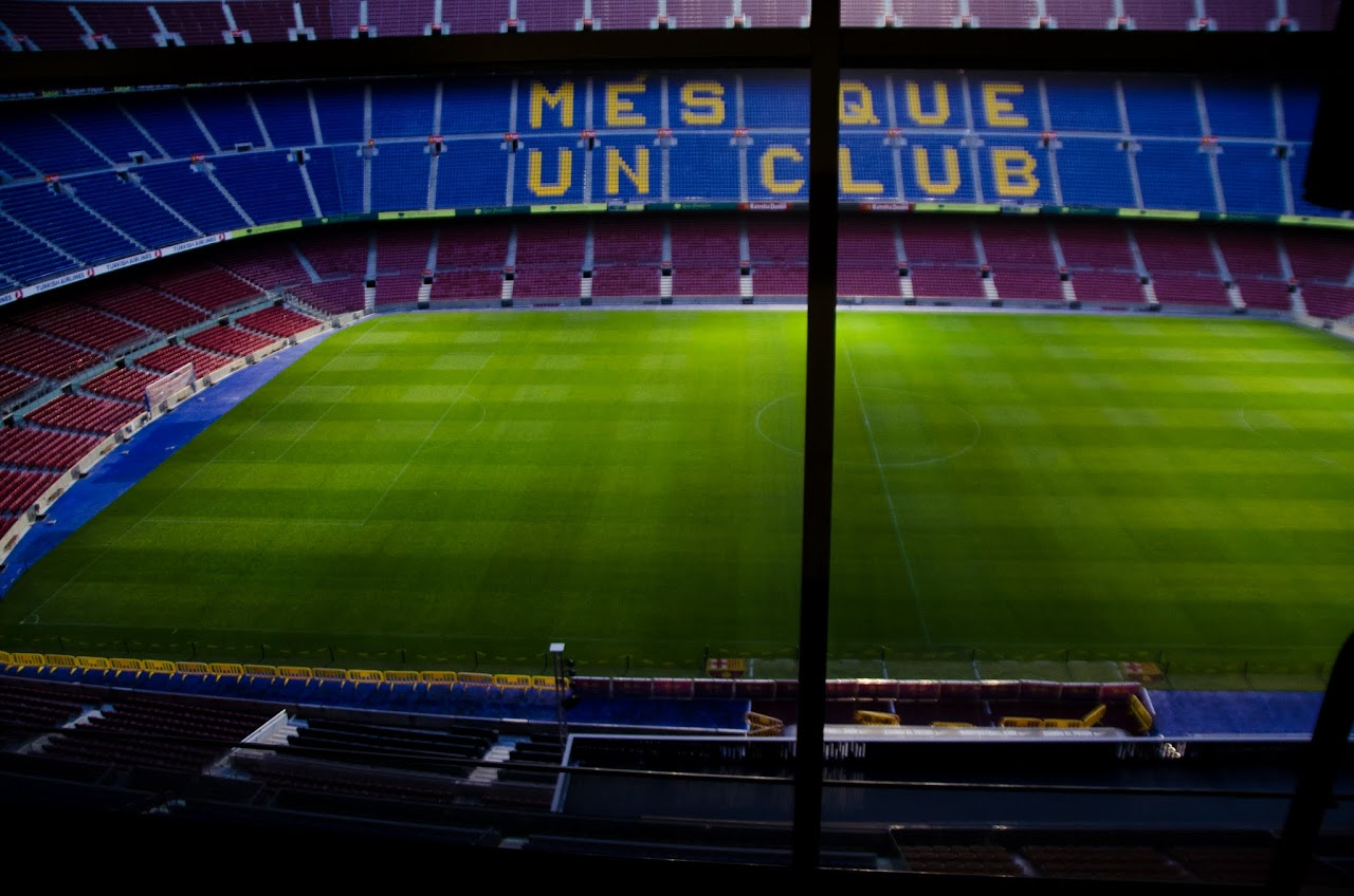 FC Barcelona Camp Nou from the press box