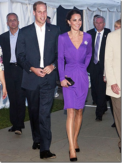 Kate Middleton purple Issa