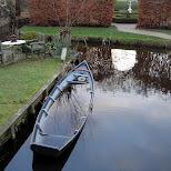 sinking boat at the zaanse schans in zaandam in Zaandam, Noord Holland, Netherlands