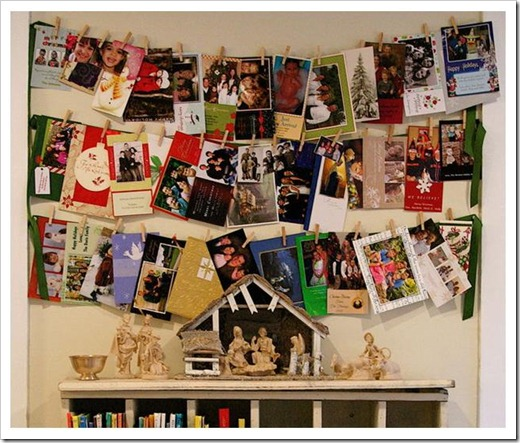christmas card display 2