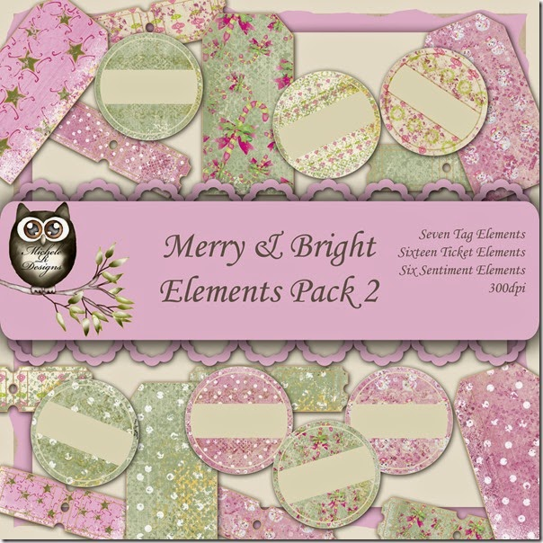 Merry & Bright Elements Front Sheet Pack 2
