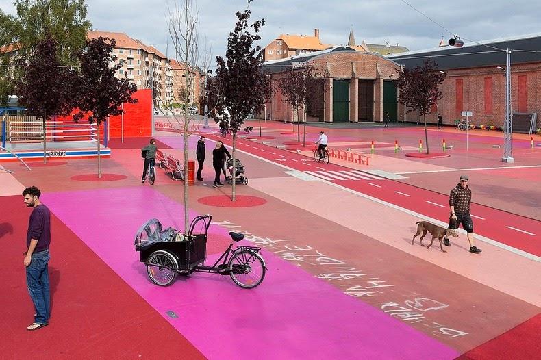 Superkilen a public park in copenhagen with artifacts for Urban danish design