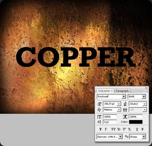 Membuat Teks Efek Copper dengan Photoshop