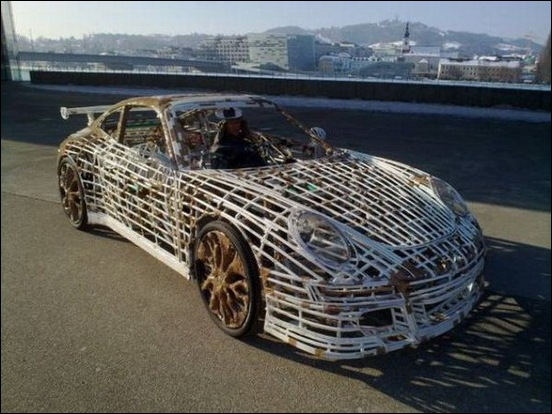 Porsche Car made from a Bicycle 21