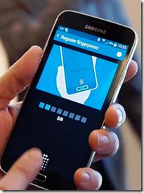 Sormenjälkilukija toiminnassa (kuva. Android community)
