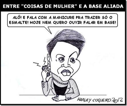 Charge_Harley_Coqueiro_Dilma_Base_Aliada