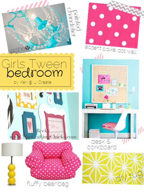 Girls Tween Bedroom Inspiration Board