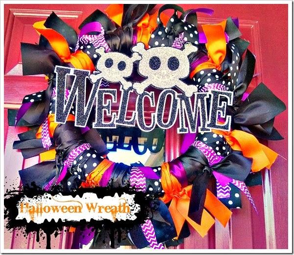 welcome halloween wreath
