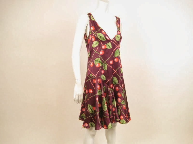 Galliano Silk Print Dress