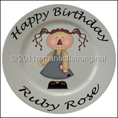 Birthday plate doll