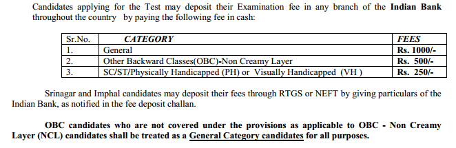 Exam fee deatils CSIR life sciences june2015