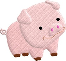 fazenda decoupage porco