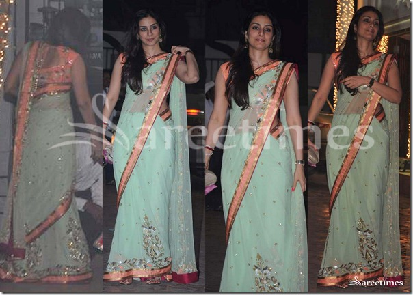 Tabu_Green_Saree