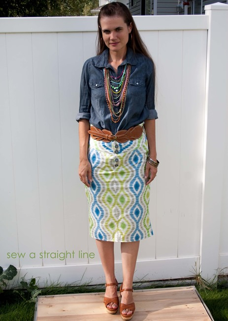 Ikat Skirt Sew a Straight Line-6