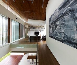 Suelos y techo de madera entablonada