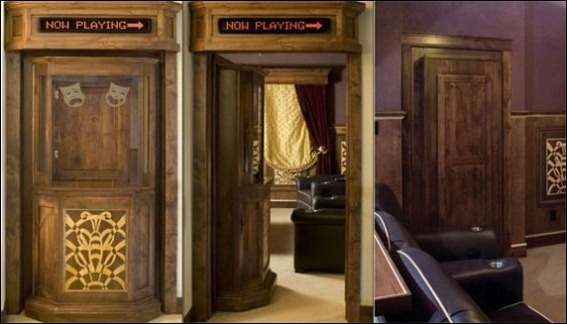 2. Home Theater Ticket Booth Hidden Door