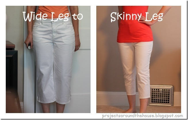 Projects Around the House: Wide Leg To Skinny Leg