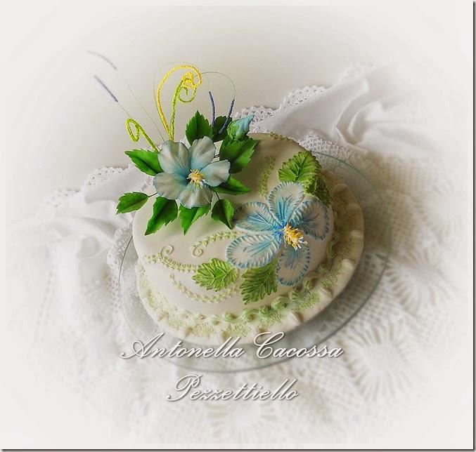 Brush embroidery colorata ed Hibiscus